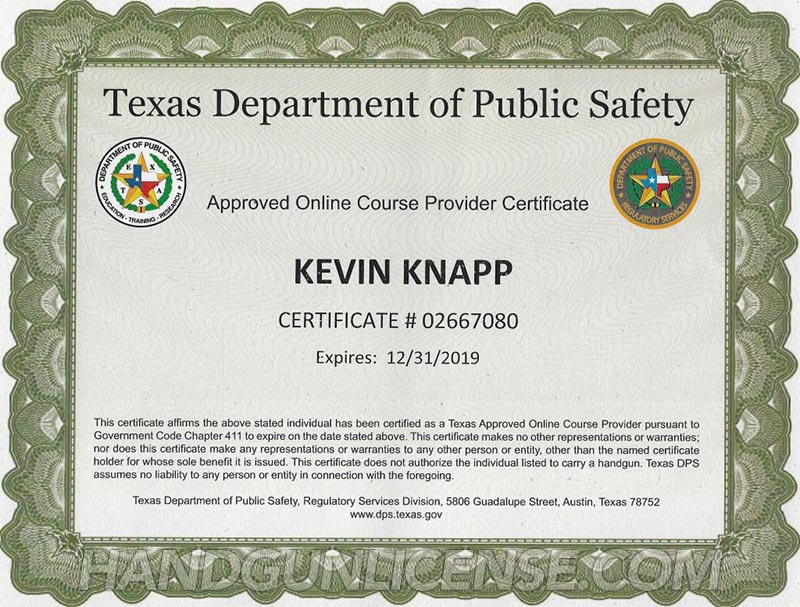 Certification Texas - induced.info